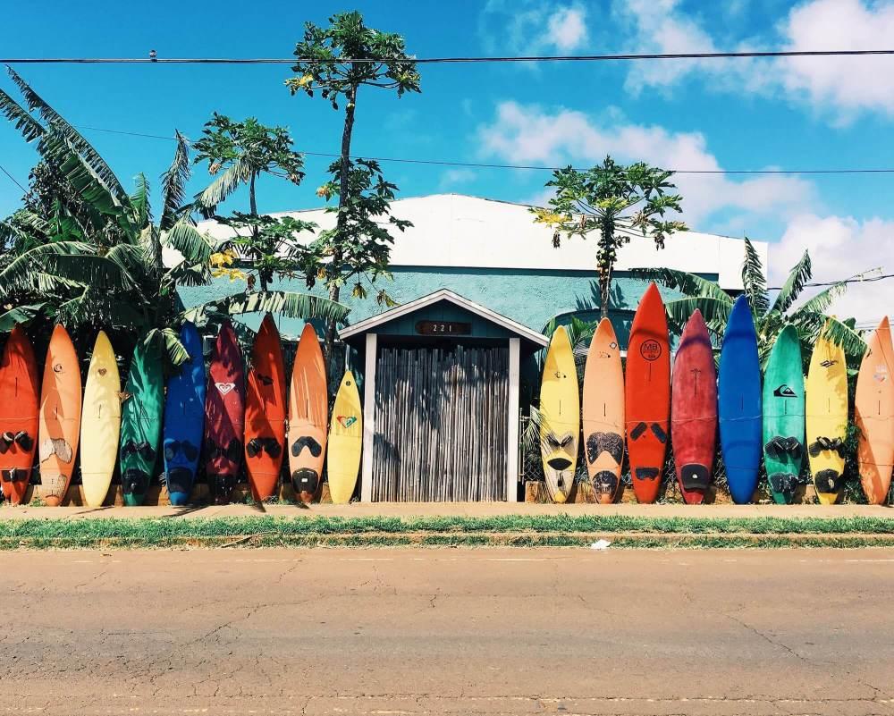 ハワイのサーフボード