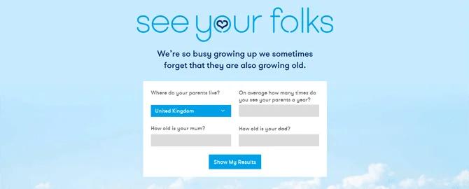 親が亡くなるまで何回会えるか測定してくれるサービス「See Your Folks」
