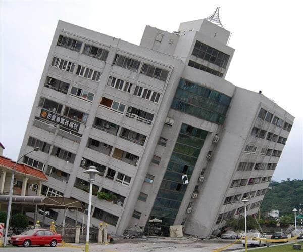 台湾東部で発生した地震