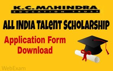 KC Mahindra All India Talent Scholarships