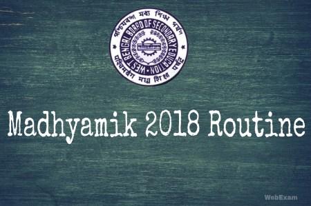 Madhyamik 2017 Routine