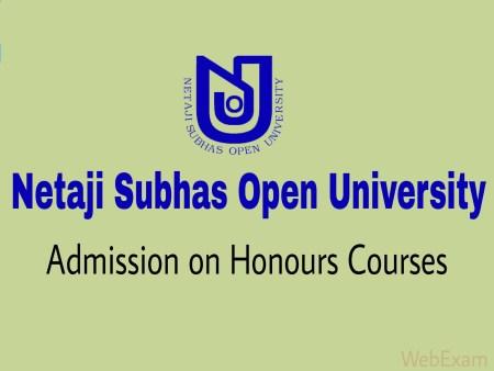 Netaji Subhas Open University Admission
