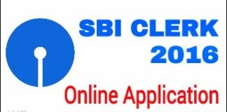 SBI CLERK 2016 Online application-725190