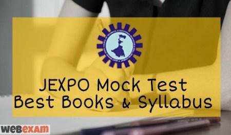 JEXPO Online Mock Test Syllabus Books