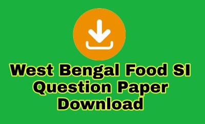 WB Food Sub Inspector Exam Previous Year Question Download
