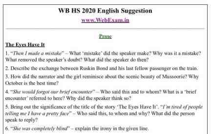 HS 2020 English Suggestion demo