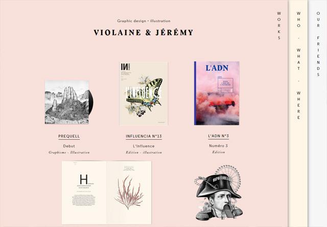Portfolio website: Violaine & Jérémy