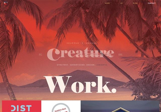 Portfolio website: Creature Seattle