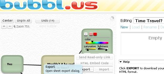 bubbl.us - screen shot.