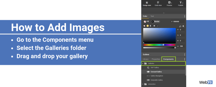 A screenshot of how to add images in Google's ad creator