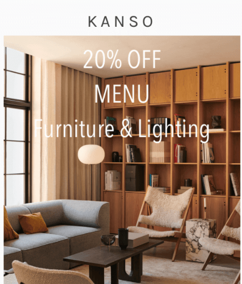 Ecommerce email example from a furniture store