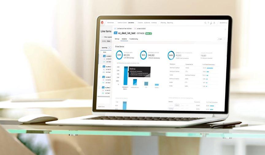Xandr Invest platform on laptop