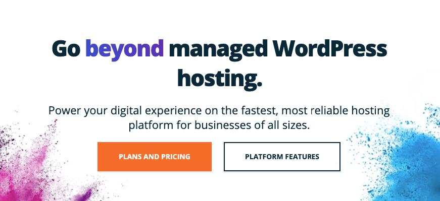 Homepage for WordPress Engine