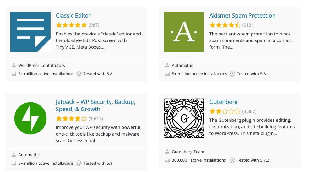 Plugins from WordPress