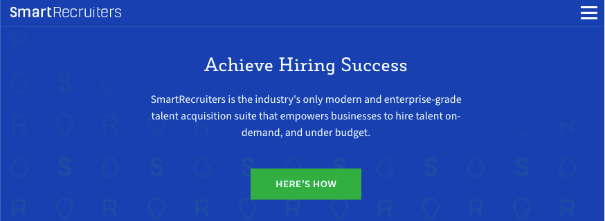 Homepage for SmartRecruiters recruitment software
