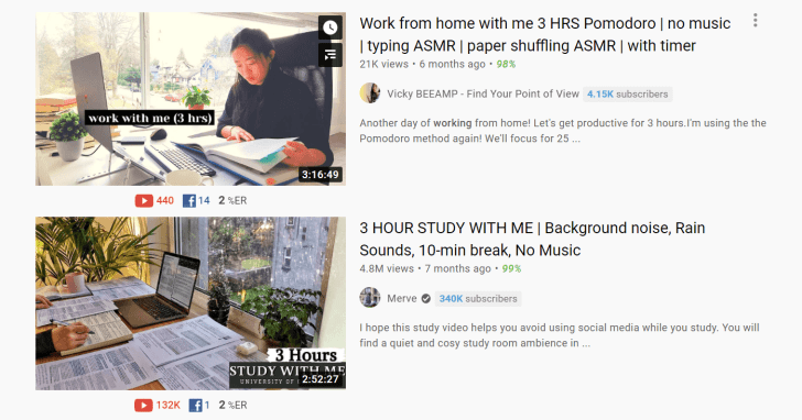 A screenshot of YouTube search results featuring