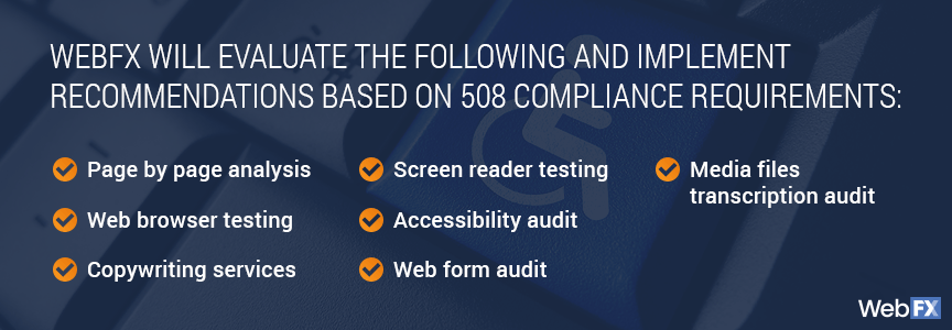 Automated Ada Section 508 Compliance Services Webfx