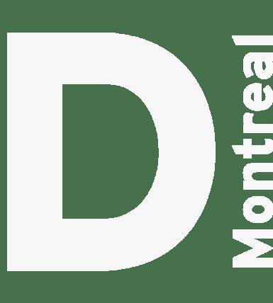 website design white letter D