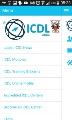 ICDL Africa Zimbabwe app by webgems - Mobile Apps in Zimbabwe