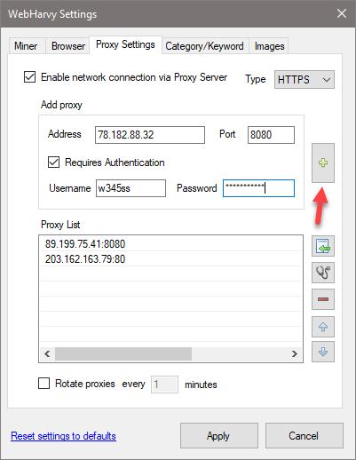 Scrape via Proxy Servers