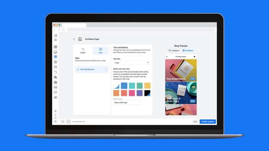 Come si personalizza Facebook Shop?