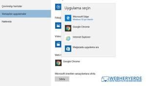 Windows 10 Varsayılan Tarayıcı Nasıl Değiştirilir?