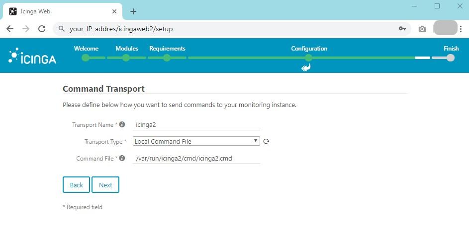 Installing Icinga web 2 on CentOS 7