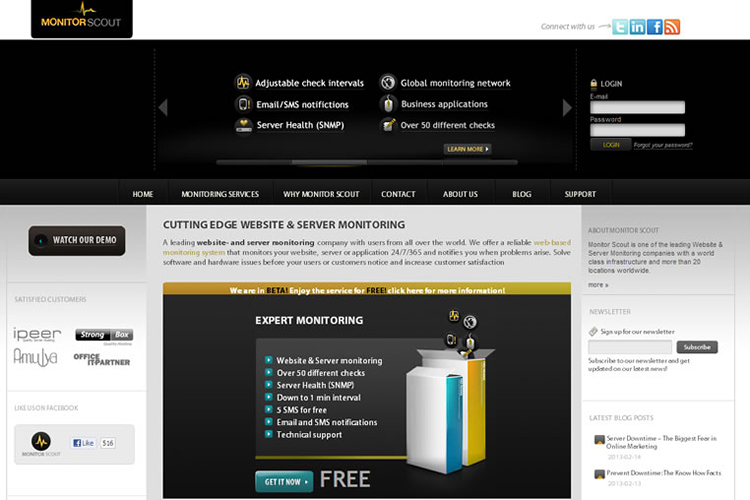 Monitor Scout Homepage