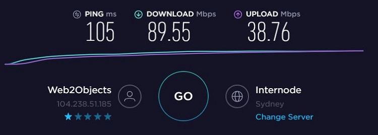 ExpressVPN network speed test - ExpressVPN is one of the top three VPNs.