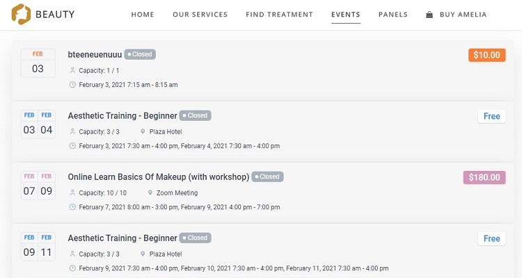 Amelia - Event Calendar Plugin for WordPress