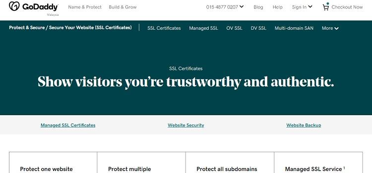 GoDaddy SSL certificate - purchase Wildcard / SAN SSL at reasonable cost