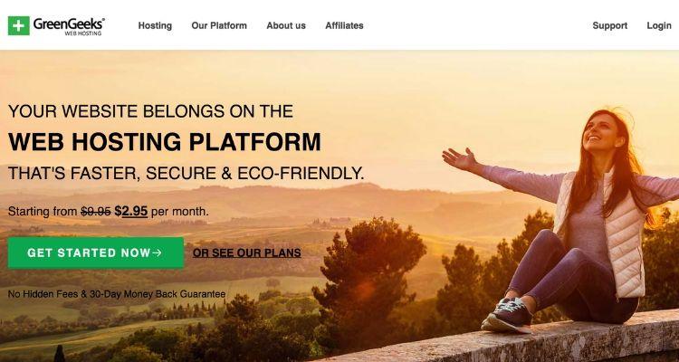 Greengeeks cheap hosting plan