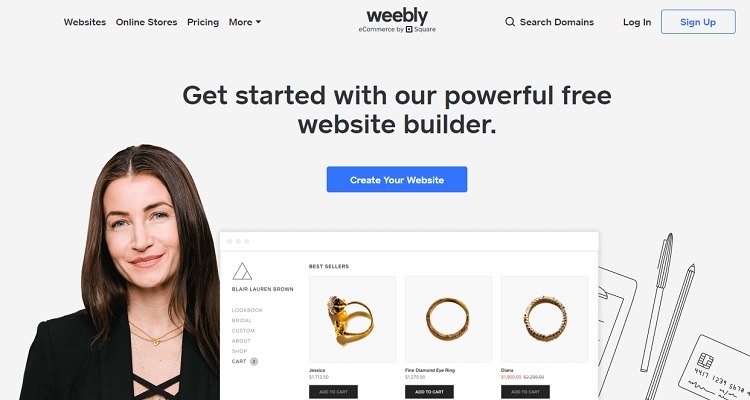 Weebly - an alternative to Shopify