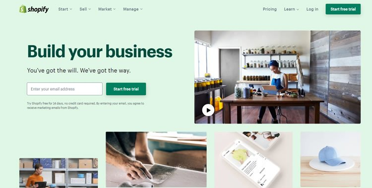 Shopify ecommerce platform - build and grow your business online