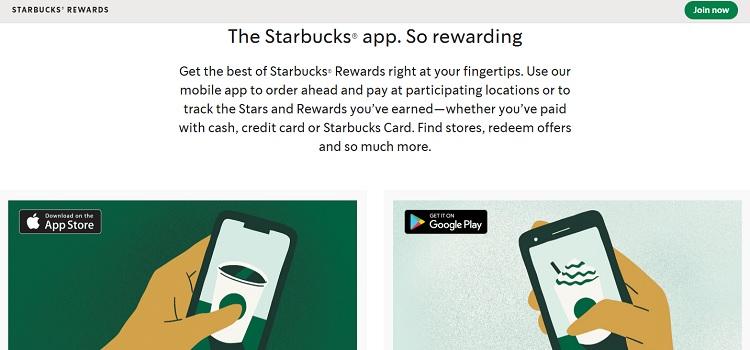 Starbuck Rewards Apps