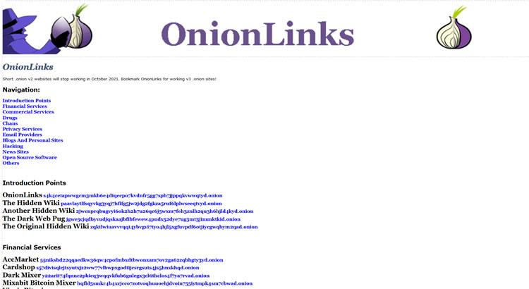 Onion Links on the Dark Web