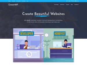 Free WordPress theme OceanWP [Review]