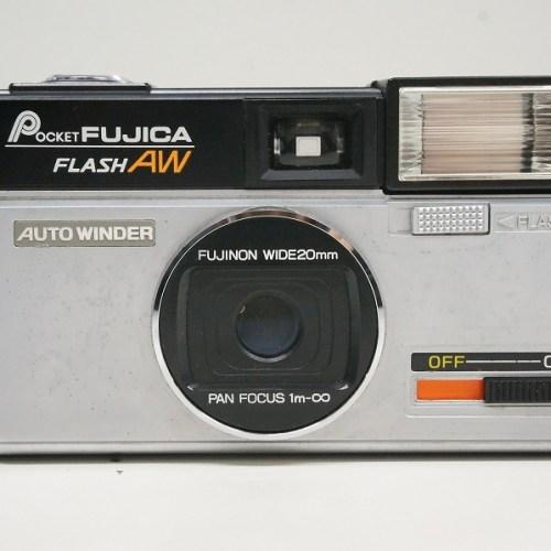 フジフィルムのコンパクトカメラ「POCKET FUJICA FLASH AW」買取実績