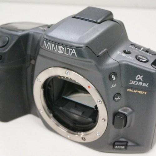ミノルタのフィルム一眼レフカメラ「α303si」買取実績