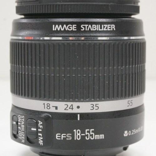 キャノンのレンズ「EF-S18-55mm F3.5-5.6 IS」買取実績