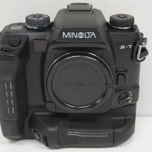 ミノルタのフィルム一眼レフカメラ「α-7 ボディ」買取実績