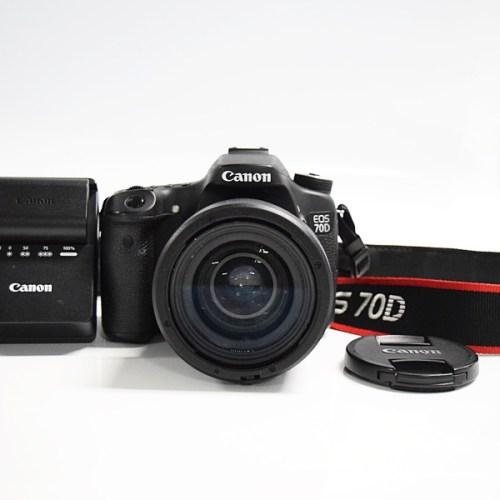 カメラ買取実績紹介「キャノン(CANON)  EOS70D ボディ + EF 35mm 1:2 IS USM」