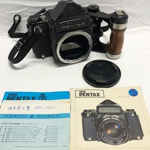カメラ買取実績紹介「PENTAX ペンタックス 6×7 アイレベル ボディ + 木製グリップ」