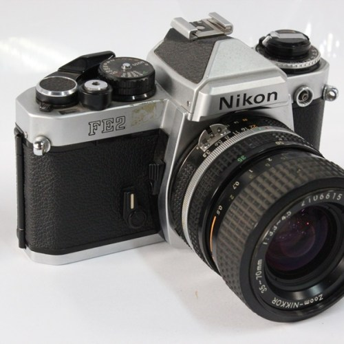 カメラ買取実績紹介「Nikon ニコン FE2 ボディ + Ai 35-70mm F3.3-4.5」