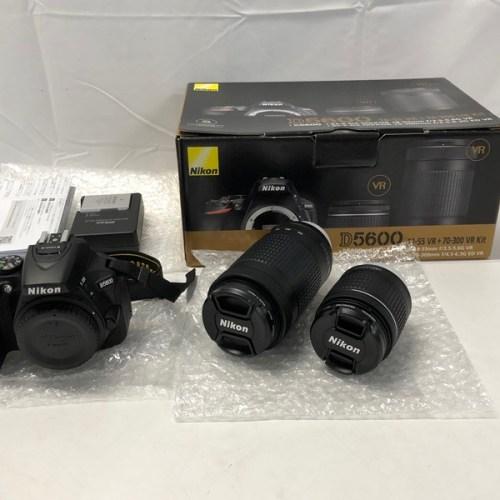 カメラ買取実績紹介「NIKON ニコン D5600 ダブルズームキット 18-55 VR 70-300 VR kit」