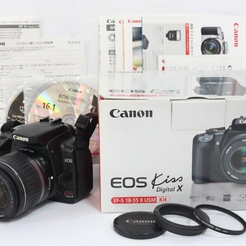 カメラ買取実績紹介「Canon キャノン EOSKiss Digital X レンズキット(EF-S15-55mm 3.5-5.6Ⅱ USM)」