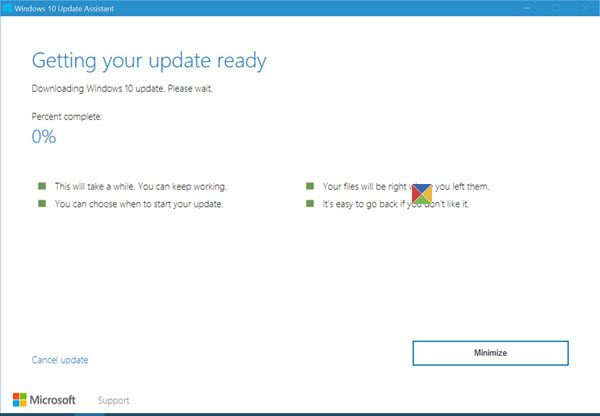 Assistente de atualização do Windows 10 4