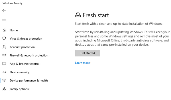 Windows 10 Fresh Start vs. Reset vs. Refresh vs. Clean install