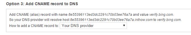 CNAME DNS Provider
