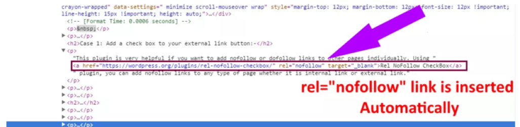 Checking nofollow link in Code